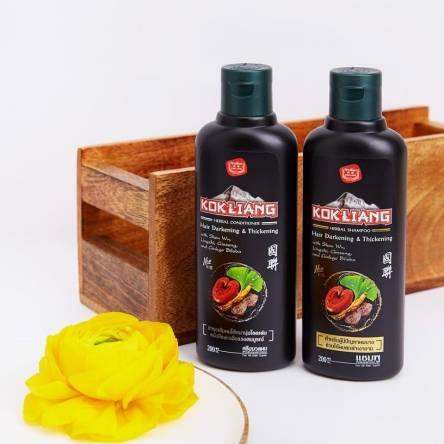 Кондиционер для темных волос Kokliang Herbal Coditioner Natural for Darkening Thickening Hair Chinese - 200 мл
