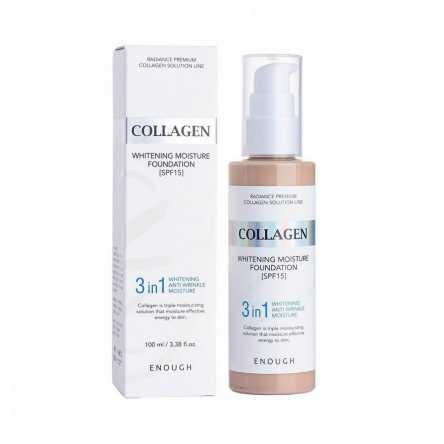 Тональный крем с коллагеном 3 в 1 Enough Collagen Whitening Moisture Foundation SPF 15 - 100 мл