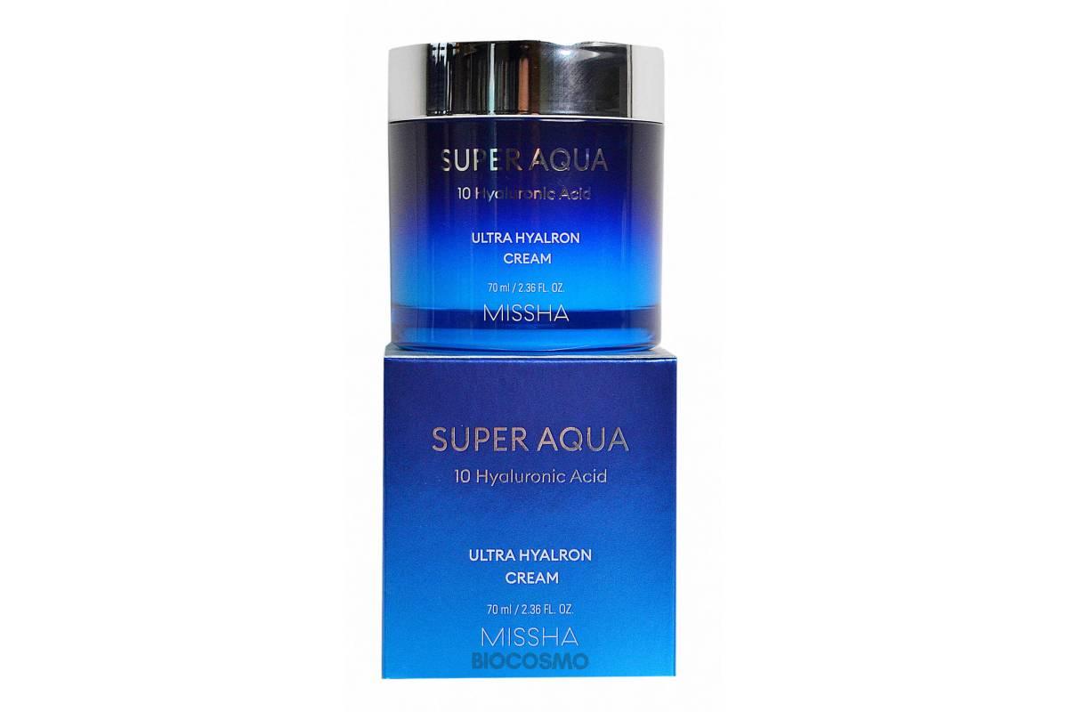 Увлажняющий крем для лица MISSHA Super Aqua Ultra Hyaluron Cream - 70 мл