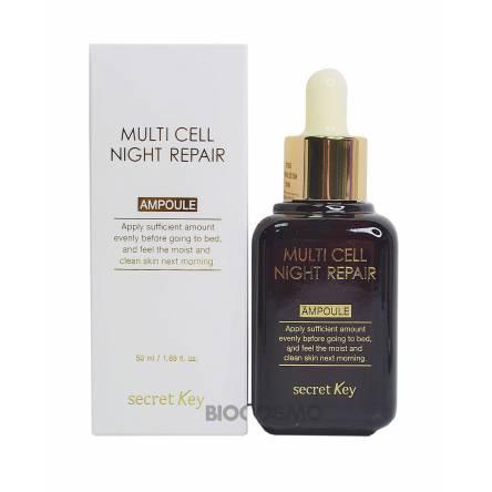 Ночная восстанавливающая сыворотка на фито-стволовых клетках Secret Key Multi Cell Night Repair Ampoule - 50 мл