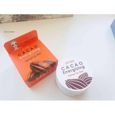Тонизирующие гидрогелевые патчи с какао Petitfee Cacao Energizing Hydrogel Eye Patch - 60 шт