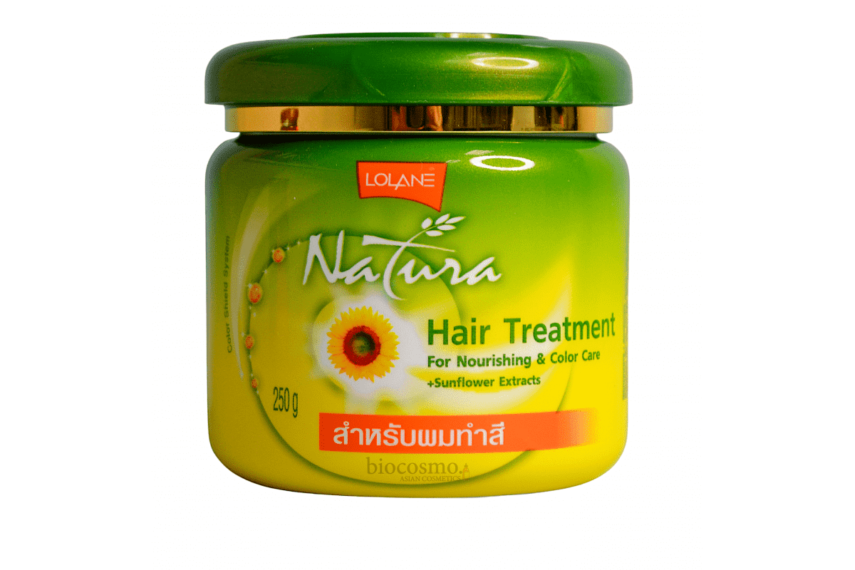 Маска для волос с подсолнечником Lolane Natura Hair Treatment For Color Care Sunflower - 250 гр