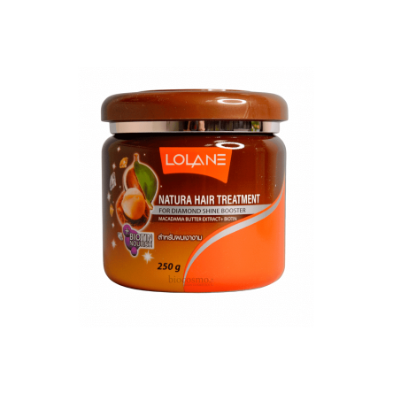 Маска для сияния волос Lolane Natura Hair Treatment For Diamond Shine Booster Macadamia Butter - 250 гр