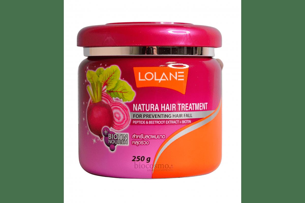 Маска для против выпадения волос с экстрактом сахарной свеклы Lolane Nature Hair Treatment Beetroot Extracts - 250 мл