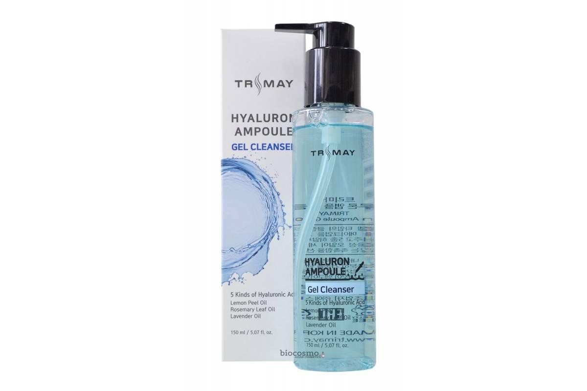 Очищающий гель с гиалуроновой кислотой Trimay Hyalurone Ampoule Gel Cleanser - 150 мл