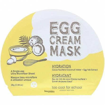 Тканевая маска с экстрактом яйца Too Cool For School Egg Cream Mask Hydration - 28 мл
