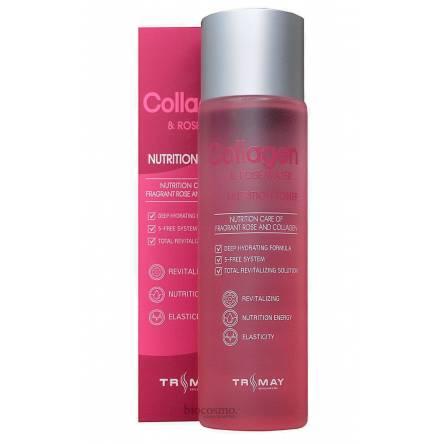 Коллагеновый тонер с розовой водой TRIMAY Collagen & Rose Water Nutrition Toner - 210 мл