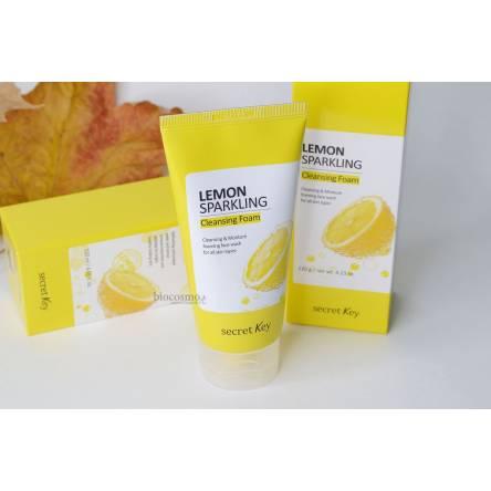 Освежающая лимонная пенка для умывания Secret Key Lemon Sparkling Cleansing Foam - 120 мл