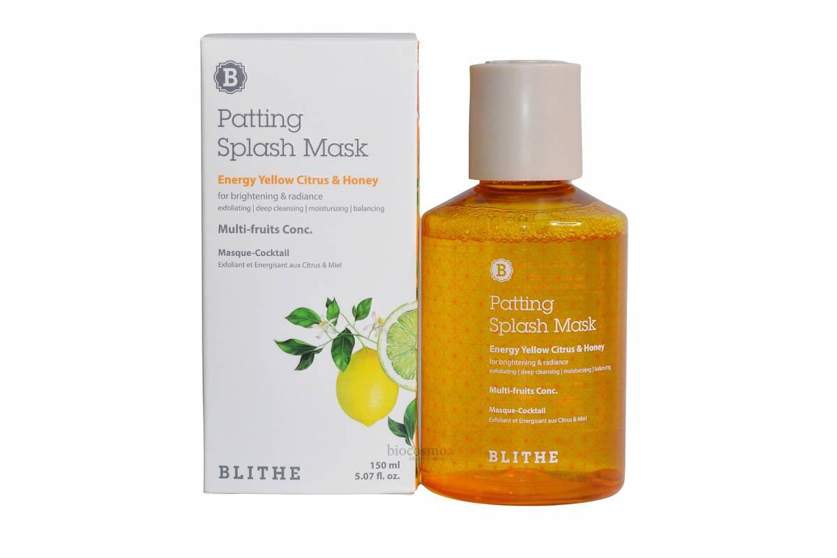 Витаминная сплэш-маска для сияния кожи Blithe Energy Yellow Citrus&Honey Splash Mask - 150 мл