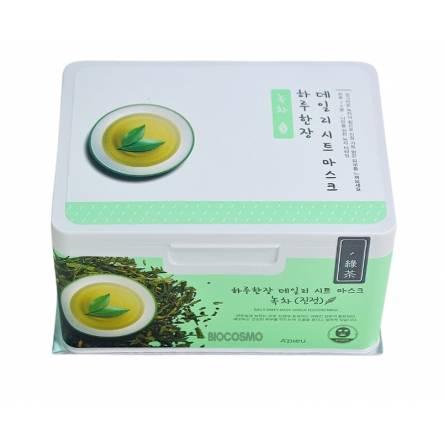 Набор тканевых масок с зеленым чаем A'Pieu Daily Sheet Mask Green Tea Soothing - 33 шт