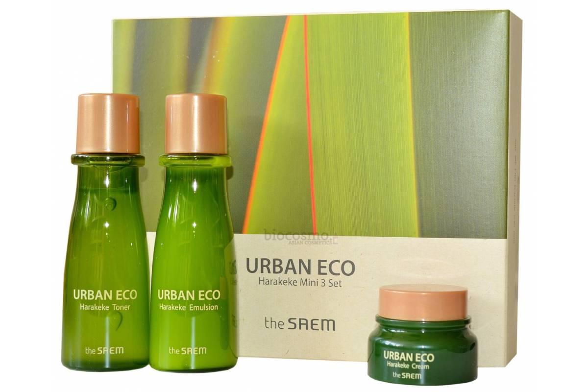 Набор миниатюр для лица с новозеландским льном THE SAEM Urban Eco Harakeke Mini 3 Set - 31мл+31мл+8мл