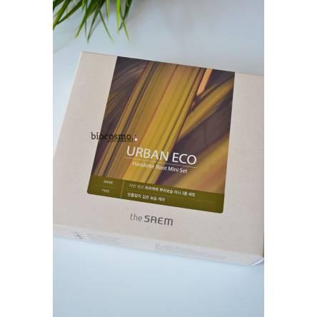 Набор миниатюр для лица с новозеландским льном THE SAEM Urban Eco Harakeke Root Mini Set - 31мл+10мл+8мл