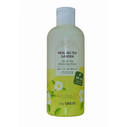 Очищающая вода для снятия макияжа с зеленым чаем THE SAEM Healing Tea Garden Green Tea Cleansing Water - 300 мл