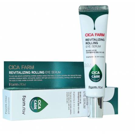 Сыворотка-роллер для век с центеллой FarmStay Cica Farm Revitalizing Rolling Eye Serum - 25 мл