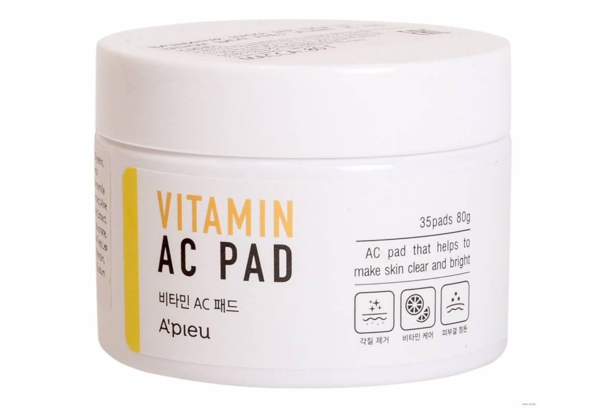 Очищающие пэды с витаминами A'PIEU Vitamin AC Pad - 35 шт