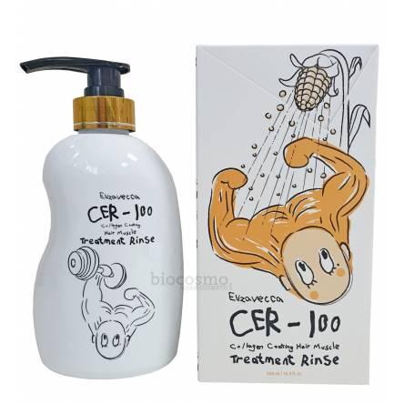 Питательный бальзам для волос ELIZAVECCA Cer-100 Collagen Coating Hair Muscle Treatment Rinse - 500 мл