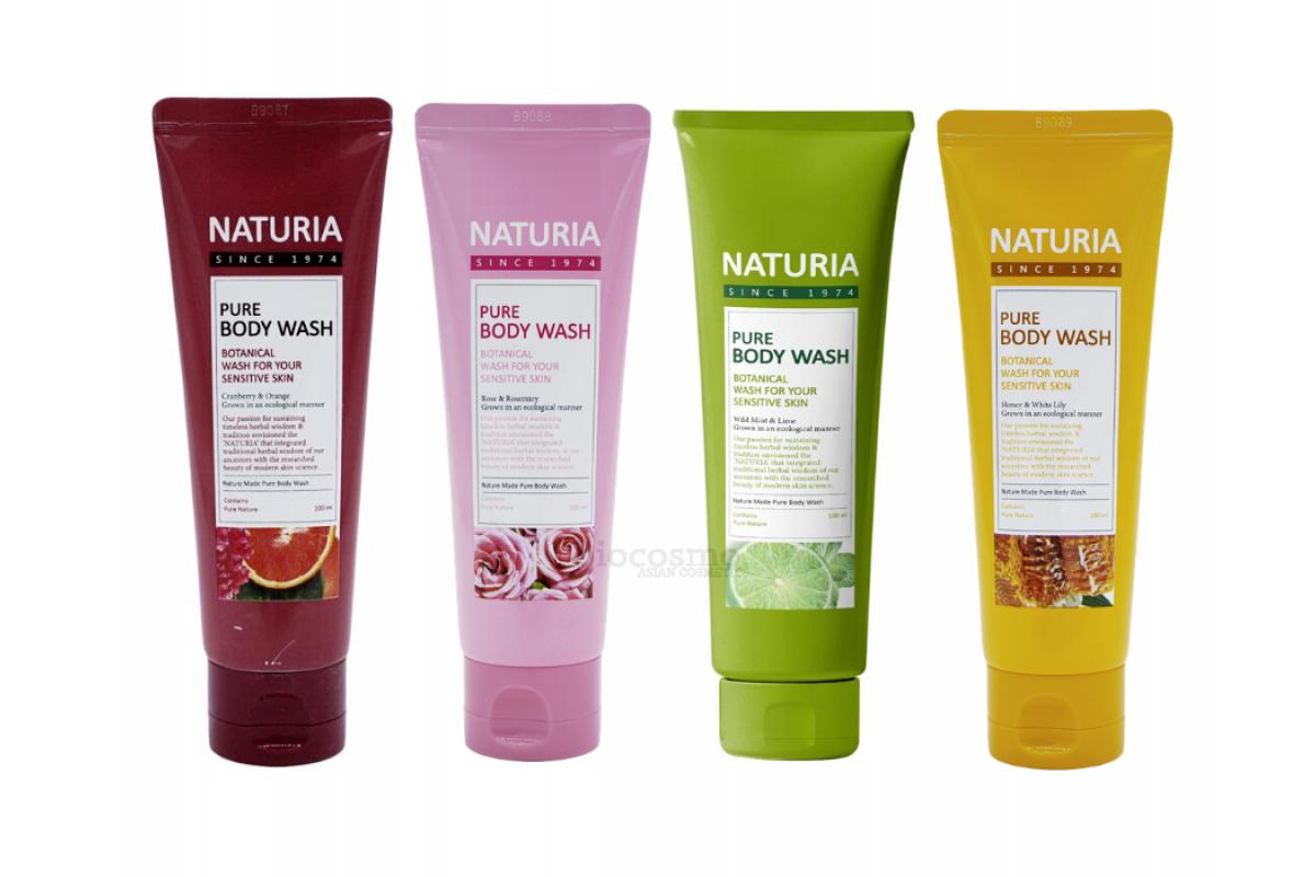 Гель для душа c натуральными экстрактами EVAS Naturia Pure Body Wash - 100 мл