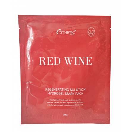 Гидрогелевая маска с вином Esthetic House Red Wine Regenerating Solution Hydrogel Mask Pack - 28 мл