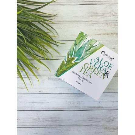 Гидрогелевые патчи для глаз с алое и зеленым чаем Esthetic House Aloe Vera&Green Tea Hydrogel Eye Patch - 60 шт