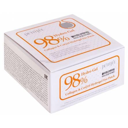 Гидрогелевые патчи для глаз с коллагеном Petitfee Collagen&CoQ10 Hydrogel Eye Patch - 60 шт