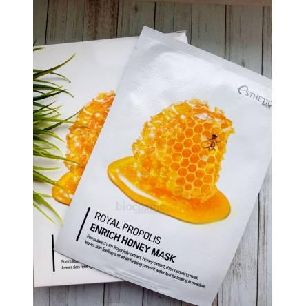 Тканевая маска для лица с прополисом Esthetic House Royal Propolis Enrich Honey Mask - 25 мл