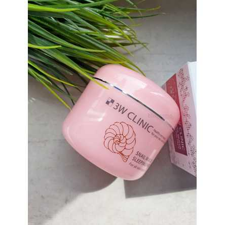 Восстанавливающая ночная маска с муцином улитки 3W CLINIC Snail Mucus Sleeping Pack - 100 мл