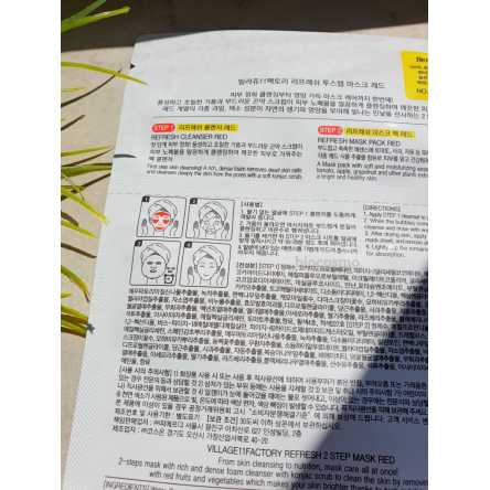 Двухступенчатая восстанавливающая маска VILLAGE 11 FACTORY Refresh 2-step Mask Red