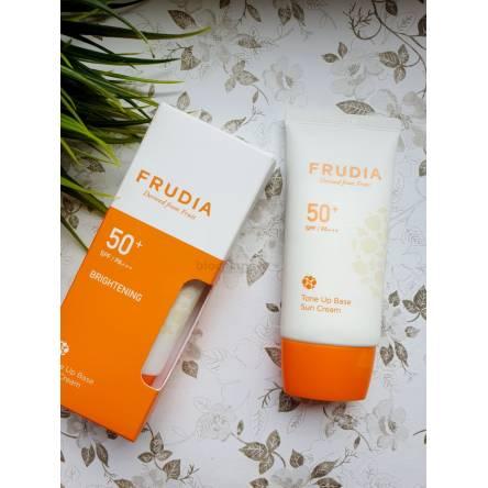 Солнцезащитная тональная крем-основа Frudia Tone Up Base Sun Cream SPF50+ PA+++ - 50 мл