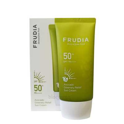 Солнцезащитный крем с авокадо Frudia Avocado Greenery Relief Sun Cream SPF50+ PA++++ - 50 мл