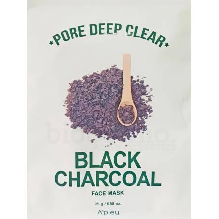 Очищающая тканевая маска для лица A'PIEU Pore Deep Clear Black Charcoal Mask - 25 гр