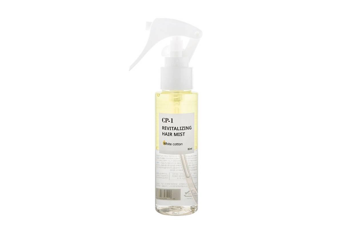 Двухфазный парфюмированный спрей для волос с хлопком Esthetic House CP-1 Revitalizing Hair Mist (White cotton) - 80 мл