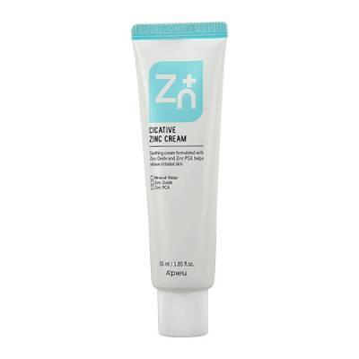 Успокаивающий крем для лица с цинком A'PIEU Cicative Zinc Cream - 55 мл