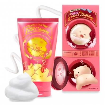 Пенка для умывания ELIZAVECCA Clean Piggy Pink Energy Foam Cleansing - 120 мл