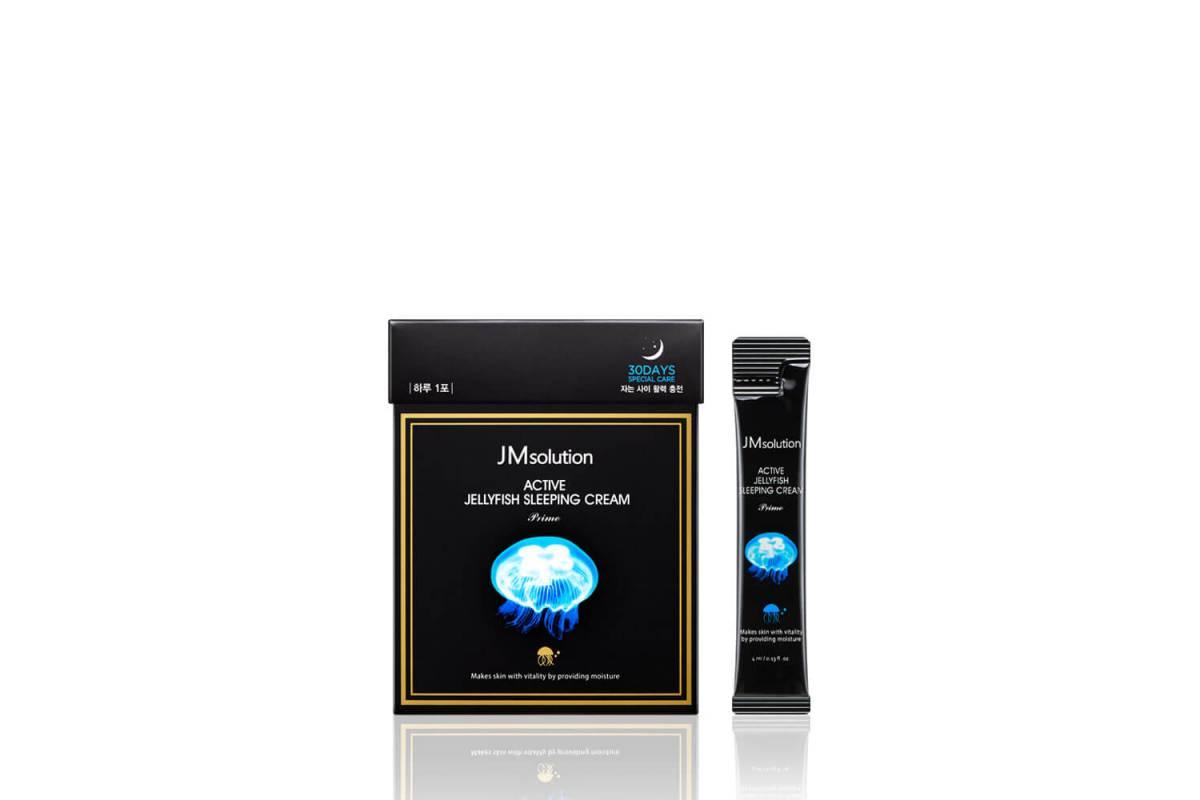 Ночная увлажняющая маска с экстрактом медузы JMsolution Active Jellyfish Sleeping Cream Prime - 4 мл