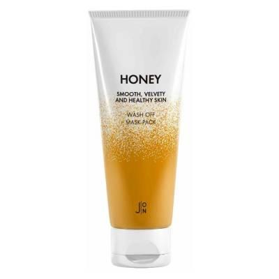 Маска для лица c медом J:ON Honey Smooth Velvety and Healthy Skin Wash Off Mask Pack - 50 гр