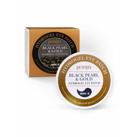 Гидрогелевые патчи для глаз с жемчугом Petitfee Black Pearl & Gold Hydrogel Eye Patch - 60 шт