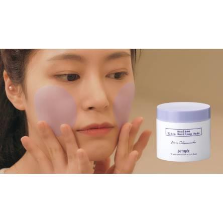 Успокаивающие пэды с азуленом PETITFEE Azulene Ultra Soothing Pads - 70 шт
