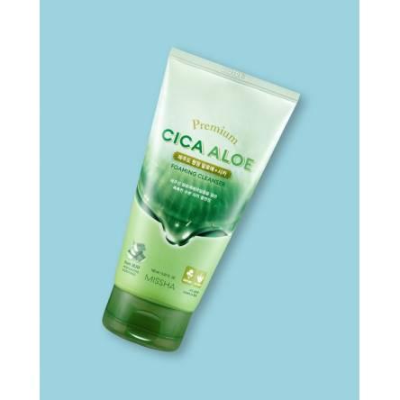Пенка для умывания с центеллой MISSHA Premium Cica Aloe Foaming Cleanser - 150 мл