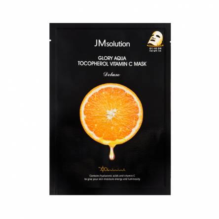 Тканевая маска для выравнивания тона JMsolution Glory Aqua Tocopherol Vitamin C Mask - 30 мл