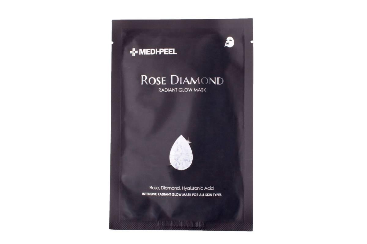Тканевая маска с алмазной пудрой для сияния кожи Medi-Peel Rose Diamond Mask - 25 гр