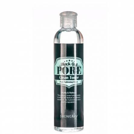Очищающий тонер для лица с углем Secret Key Black Out Pore Clean Toner - 250 мл