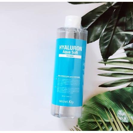Гиалуроновый тонер для лица с отшелушивающим эффектом Secret Key Hyaluron Aqua Soft Toner - 500 мл