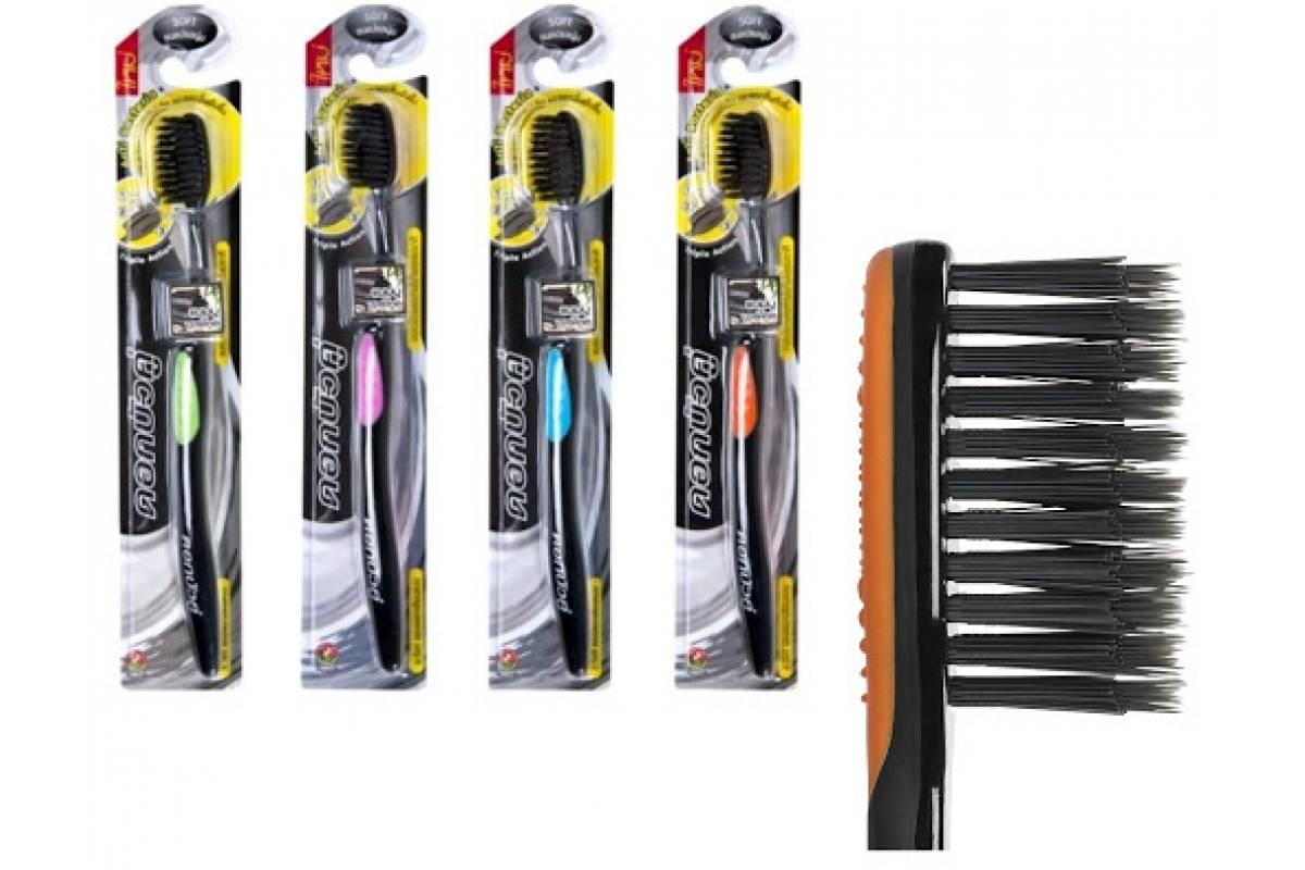 Зубная щетка на основе бамбукового угля Twin Lotus Slim Soft ฺBamboo Charcoal Toothbrush