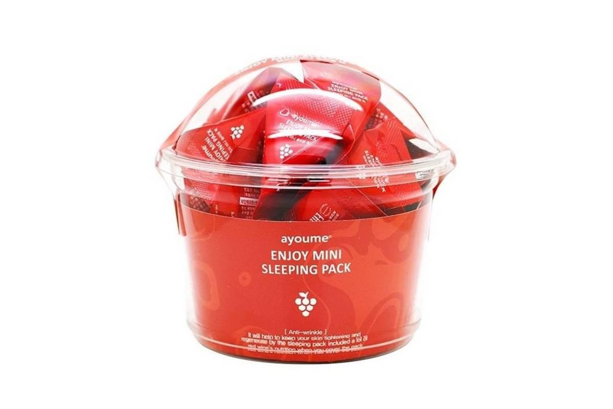 Ночная маска для лица с красным вином AYOUME Enjoy Mini Sleeping Pack - 3 гр