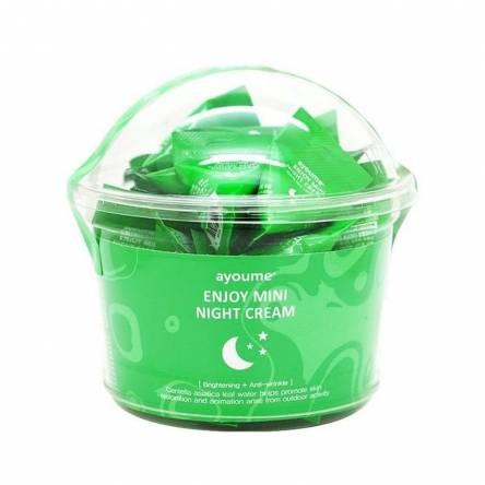 Ночной крем для лица с центеллой AYOUME Enjoy Mini Night Cream - 3 гр