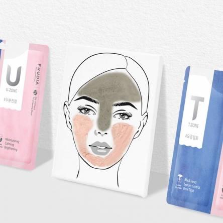 Мульти-маска для лица с розовой и черной глиной Frudia My Orchard TU Drawing Mask - 7+7 гр