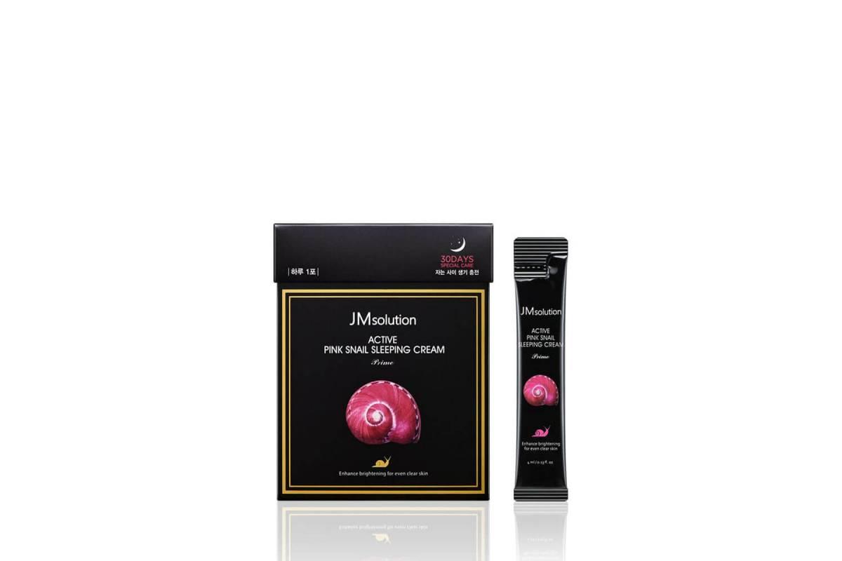 Обновляющая ночная маска с муцином улитки JMsolution Active Pink Snail Sleeping Cream Prime - 4 мл
