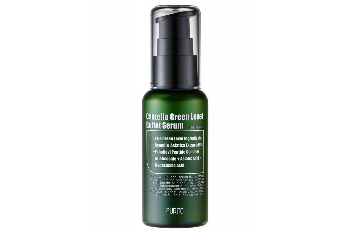Сыворотка для восстановления кожи с центеллой PURITO Centella Green Level Buffet Serum - 60 мл