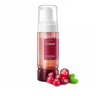 Витаминная пенка для умывания c клюквойNeogen Dermalogy Real Fresh Foam Cleanser Cranberry - 160 гр