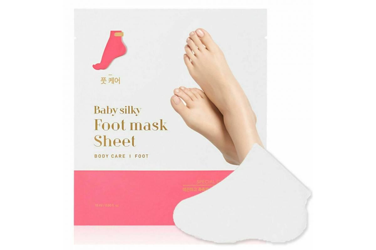 Смягчающая маска для стоп Holika Holika Baby Silky Foot Mask Sheet - 2*18 мл